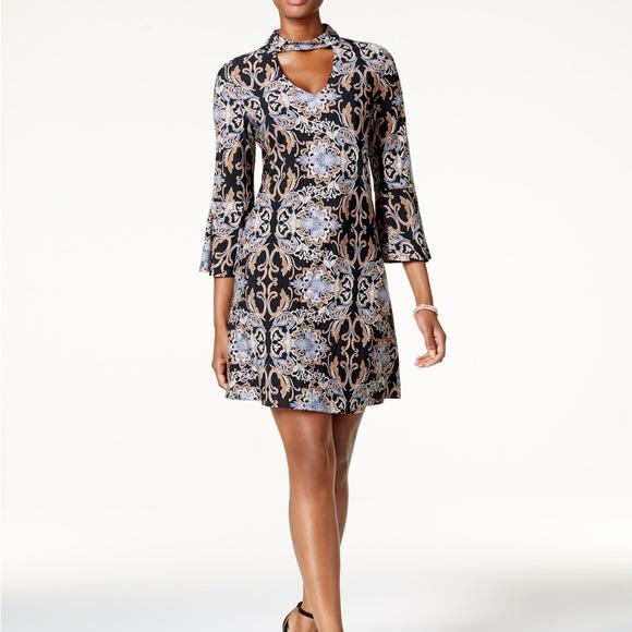 4cfe86e1361f Jessica Howard Dresses   Petite Printed Mockneck Dress   Poshmark